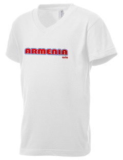 Armenia Kid's V-Neck Jersey T-Shirt