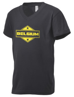 Belgium Kid's V-Neck Jersey T-Shirt