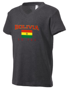 Bolivia Kid's V-Neck Jersey T-Shirt