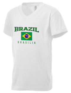 Brazil Kid's V-Neck Jersey T-Shirt