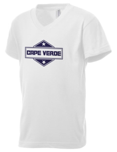 Cape Verde Kid's V-Neck Jersey T-Shirt