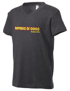 Republic of Congo Kid's V-Neck Jersey T-Shirt