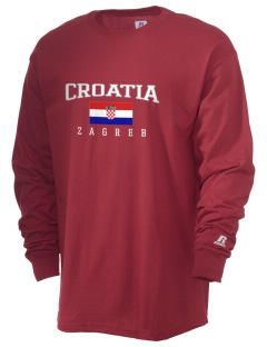 Croatia  Russell Men's Long Sleeve T-Shirt