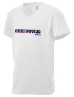 Czech Republic Kid's V-Neck Jersey T-Shirt