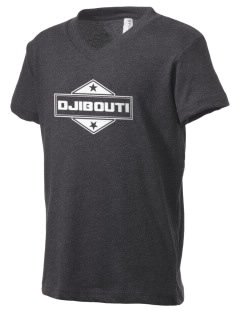 Djibouti Kid's V-Neck Jersey T-Shirt