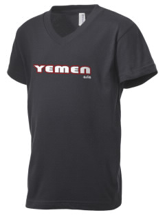 Yemen Kid's V-Neck Jersey T-Shirt