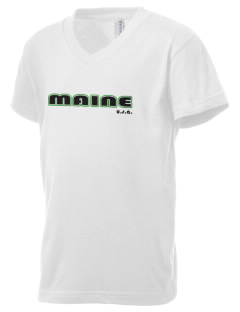 Maine Kid's V-Neck Jersey T-Shirt