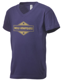 New Hampshire Kid's V-Neck Jersey T-Shirt