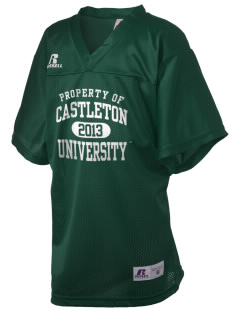 Castleton State College Spartans Russell Kid's Replica Football Jersey