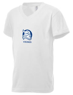 Berry College Vikings Kid's V-Neck Jersey T-Shirt