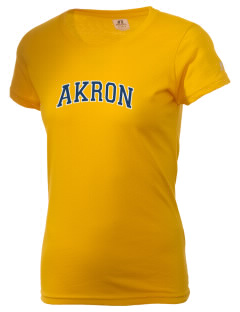 The University of Akron Zips  Russell Women's Campus T-Shirt