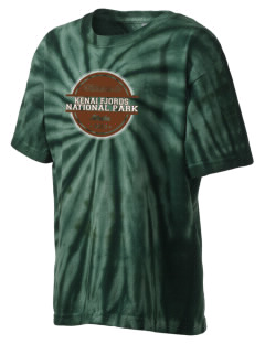 Kenai Fjords National Park Kid's Tie-Dye T-Shirt