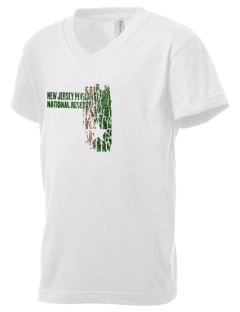 New Jersey Pinelands National Reserve Kid's V-Neck Jersey T-Shirt