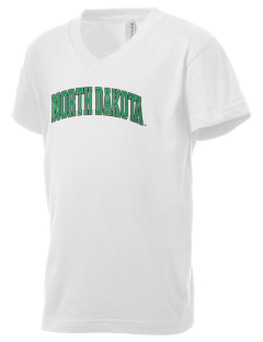 University of North Dakota Athletics Kid's V-Neck Jersey T-Shirt