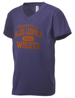 Aldo Leopold High School Wolves Kid's V-Neck Jersey T-Shirt