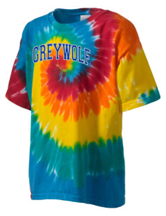 Greywolf Elementary School Wolf Pups Kid's Tie-Dye T-Shirt