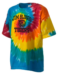Jim Bloggs School Tigers Kid's Tie-Dye T-Shirt