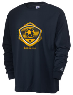 Barbados Soccer  Russell Men's Long Sleeve T-Shirt