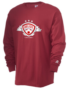 Belize Soccer  Russell Men's Long Sleeve T-Shirt
