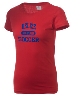 Belize Soccer  Russell Women's Campus T-Shirt
