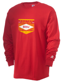 Bhutan Soccer  Russell Men's Long Sleeve T-Shirt