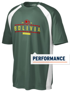 Bolivia Soccer Men's Dry Zone Colorblock T-Shirt