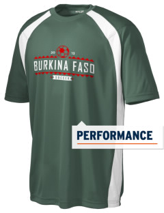 Burkina Faso Soccer Men's Dry Zone Colorblock T-Shirt
