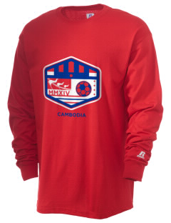 Cambodia Soccer  Russell Men's Long Sleeve T-Shirt