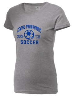 Central African Republic Soccer  Russell Women's Campus T-Shirt