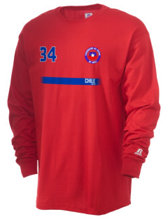 Chile Soccer  Russell Men's Long Sleeve T-Shirt