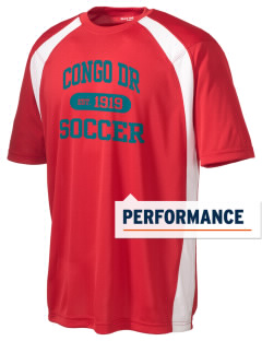 Congo DR Soccer Men's Dry Zone Colorblock T-Shirt