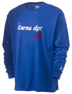 Korea DPR Soccer  Russell Men's Long Sleeve T-Shirt