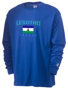 Lesotho Soccer  Russell Men's Long Sleeve T-Shirt