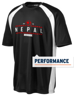 Nepal Soccer Men's Dry Zone Colorblock T-Shirt