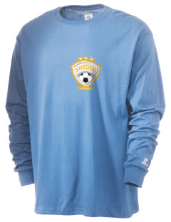Sweden Soccer  Russell Men's Long Sleeve T-Shirt
