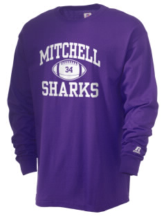 Mitchell Elementary School Sharks  Russell Men's Long Sleeve T-Shirt