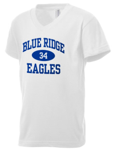 Blue Ridge Elementary School Eagles Kid's V-Neck Jersey T-Shirt