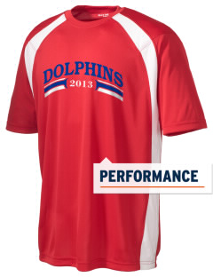 Graham Elementary School Dolphins Men's Dry Zone Colorblock T-Shirt