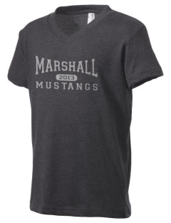 Marshall Middle School Mustangs Kid's V-Neck Jersey T-Shirt