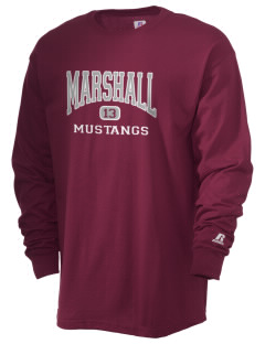 Marshall Middle School Mustangs  Russell Men's Long Sleeve T-Shirt