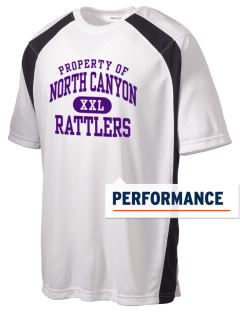 North Canyon High School Rattlers Men's Dry Zone Colorblock T-Shirt