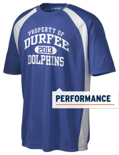Durfee Elementary School Dolphins Men's Dry Zone Colorblock T-Shirt