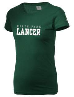 North Park Middle School Lancer  Russell Women's Campus T-Shirt
