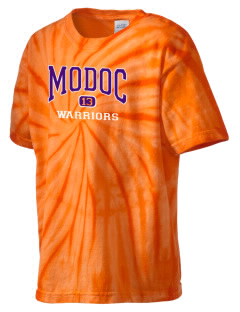 Modoc Middle School Warriors Kid's Tie-Dye T-Shirt