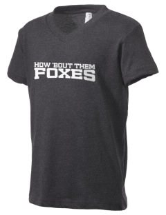 Folsom Hills Elementary School Foxes Kid's V-Neck Jersey T-Shirt