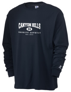 Canyon Hills Junior High School Coyotes  Russell Men's Long Sleeve T-Shirt