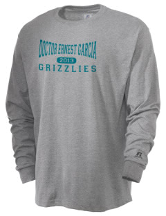 Doctor Ernest Garcia Elementary School Grizzlies  Russell Men's Long Sleeve T-Shirt
