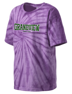 Grandview Elementary School Grizzly Bears Kid's Tie-Dye T-Shirt