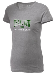 Grandview Elementary School Grizzly Bears  Russell Women's Campus T-Shirt