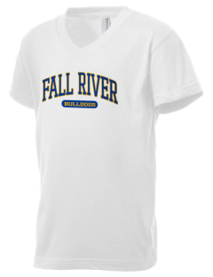 Fall River Senior High School Bulldogs Kid's V-Neck Jersey T-Shirt